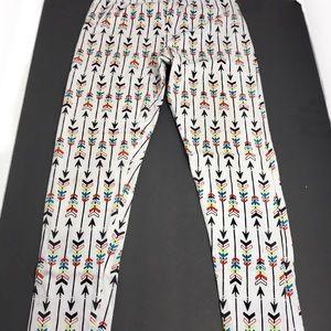 Fabkids White Arrow Designed Leggings